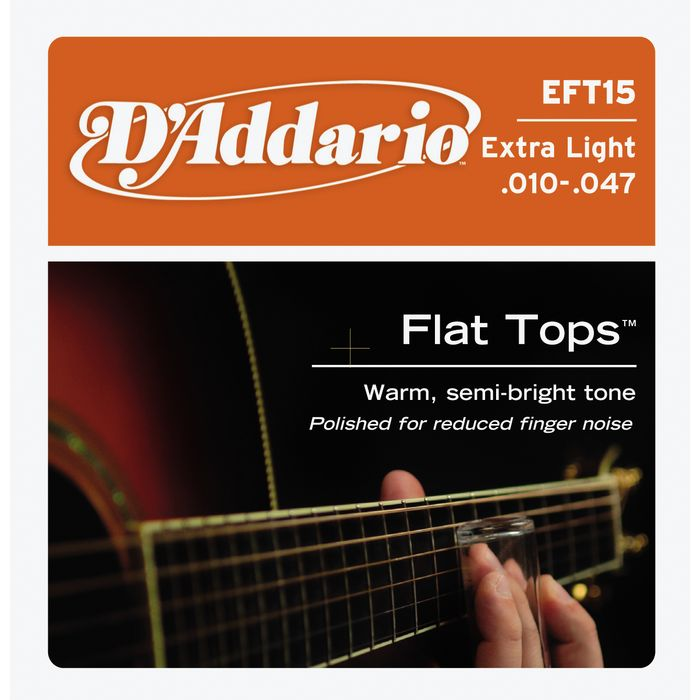 D'Addario Acoustic Guitar Strings Extra Light Flat Tops